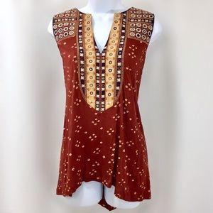 🆕 Anthropologie BoHo Embroidered Sleeveless Top